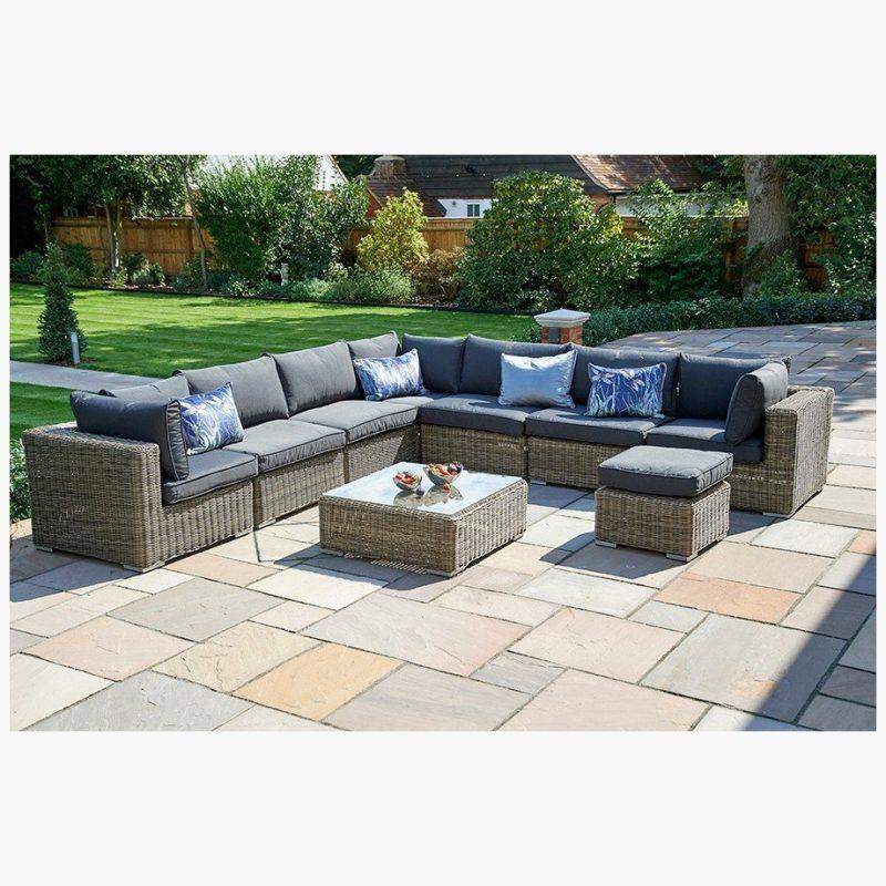 6 Piece Mayfair Modular Rattan Garden Furniture Set M