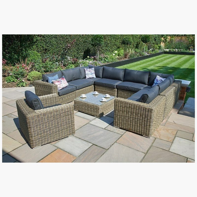 10 Piece Mayfair Modular Rattan Garden Furniture Set W