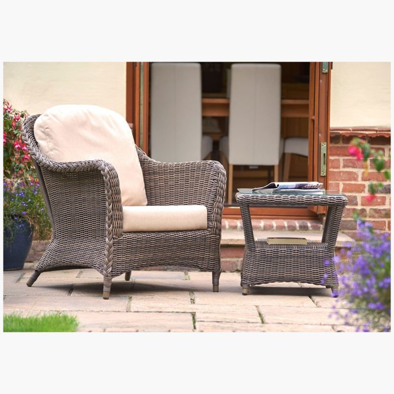 Marlow Lounge Armchair with Square Side Table