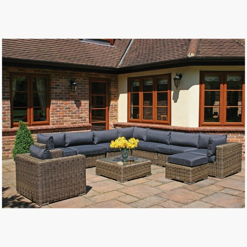 10 Piece Mayfair Modular Rattan Garden Furniture Set