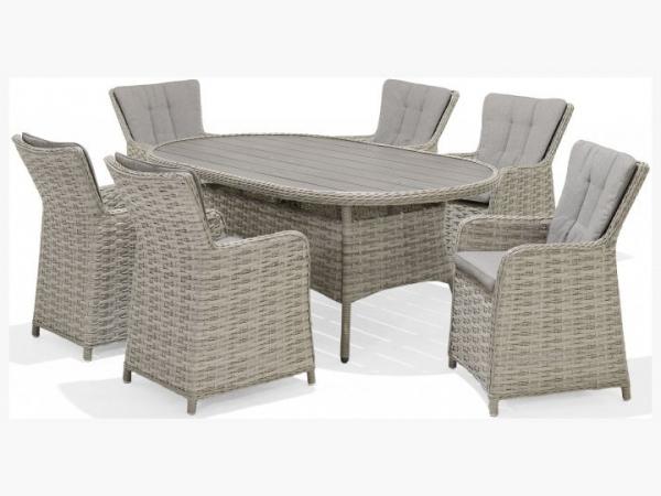 Lifestyle Garden Samoa 6 Seat Oval Dining Set