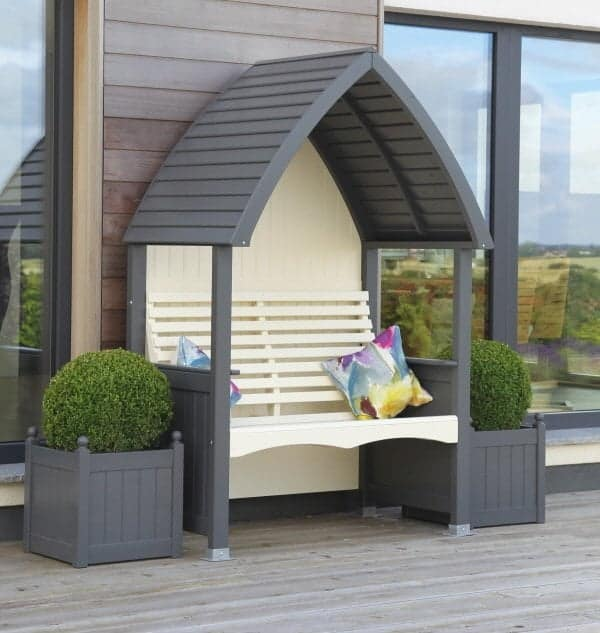 AFK Cottage Arbour Stone & Charcoal
