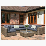 8 Piece Mayfair Modular Rattan Garden Furniture Set U