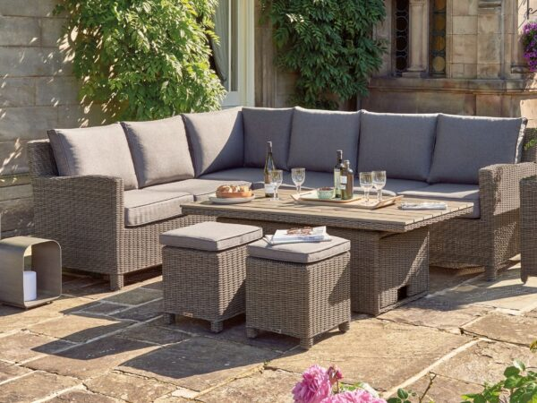 Kettler Palma Corner Set Adjustable Table – Rattan