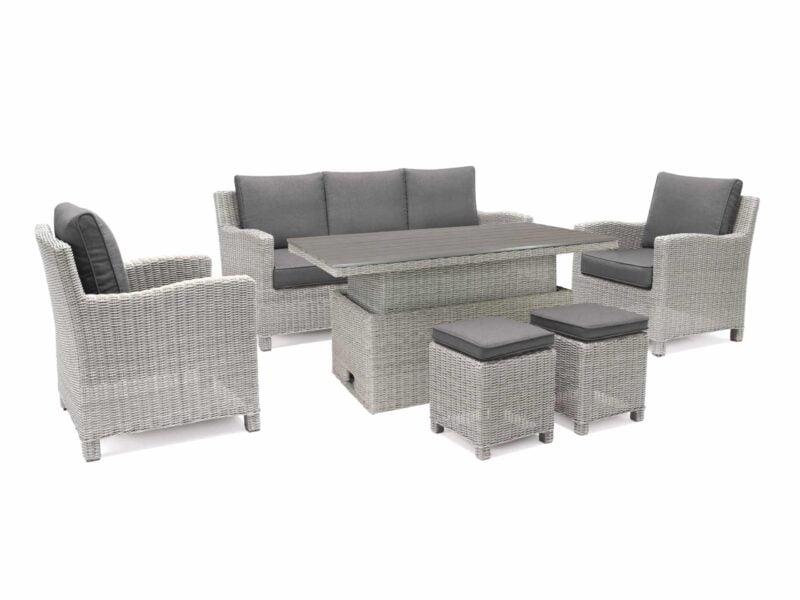 Kettler Palma Adjustable Sofa Set – Whitewash