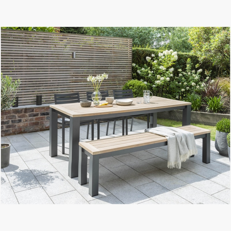 Kettler Elba Dining Table with Chairs and Bench