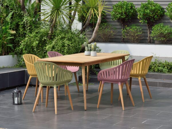 Lifestyle Garden Nassau 6 Seat Mixed Colours