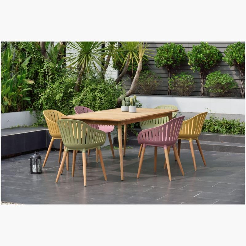 Lifestyle Garden Nassau 6 Seat Mixed Colours