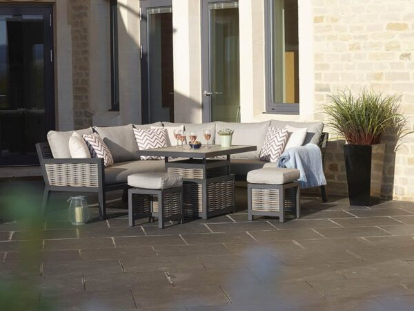 portofino adjustable table corner unit from bramblecrest
