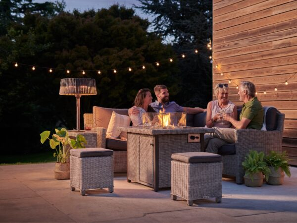 Kettler Palma Mini Fire Pit Table – Whitewash