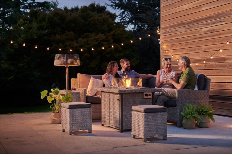 Kettler Palma Mini Fire Pit Table – Whitewash