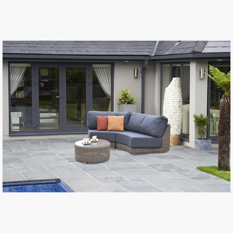 3 Piece Kingston Curved Modular Sofa Set C