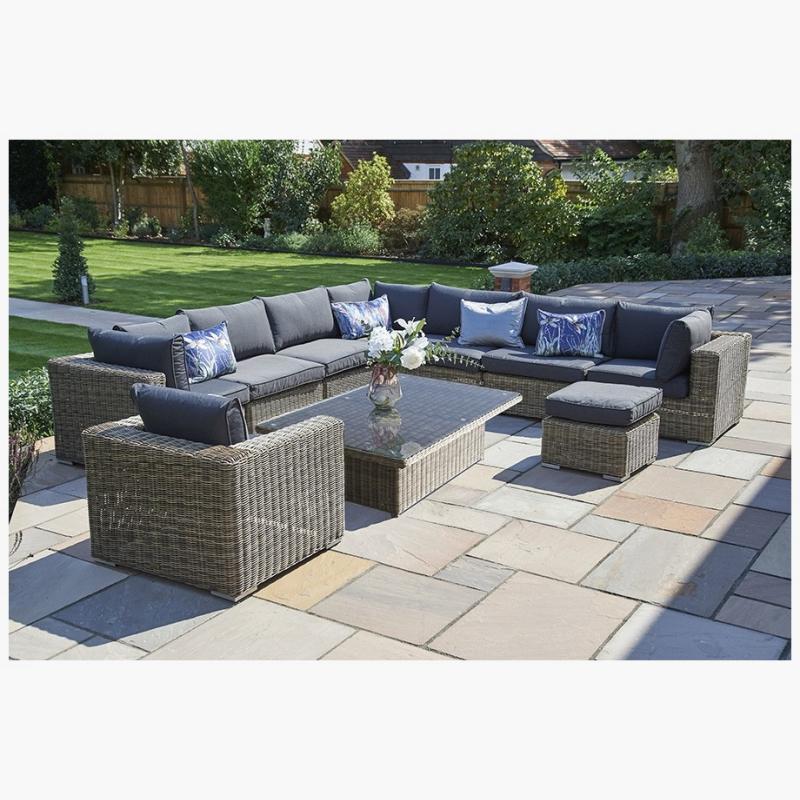 10 Piece Mayfair Modular Rattan Garden Furniture Set K