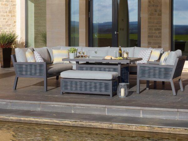 Bramblecrest Portofino Modular Sofa with Firepit