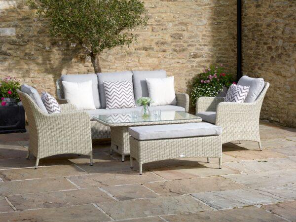Tetbury Adjustable Sofa Set – Nutmeg