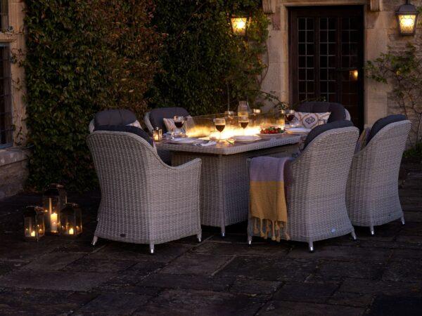 Monterey Firepit Dining Set