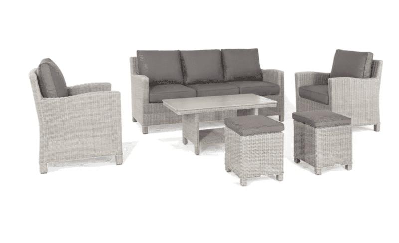 Kettler Palma Sofa Set in Whitewash