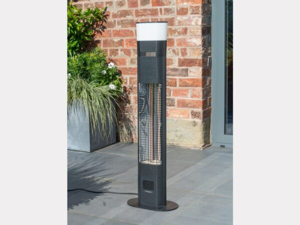Ibiza Floor Standing Garden Heater with LED and Wireless Speaker